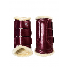 Equestrian Stockholm Brushing Boots Back Bordeaux