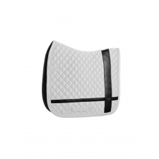 Equestrian Stockholm Dressage Saddle Pad No Boundaries White COB