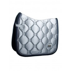 Equestrian Stockholm Dressage Saddle Pad Crystal Grey COB