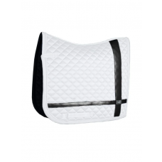 Equestrian Stockholm Dressage Saddle Pad No Boundaries White