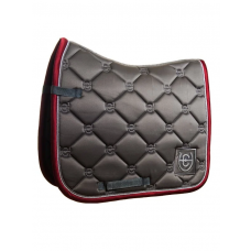 Equestrian Stockholm Dressage Saddle Pad Grey Bordeaux COB