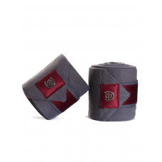 Equestrian Stockholm Fleece Bandages Grey Bordeaux