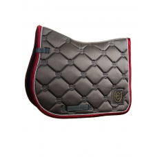 Equestrian Stockholm Jump Saddle Pad Grey Bordeaux Pony