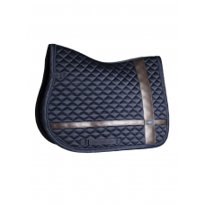 Equestrian Stockholm Jump Saddle Pad Leather Deluxe Silver