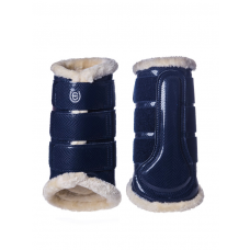 Equestrian Stockholm Brushing Boots Back Navy