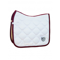 Equestrian Stockholm Dressage Saddle Pad White Perfection Bordeaux COB